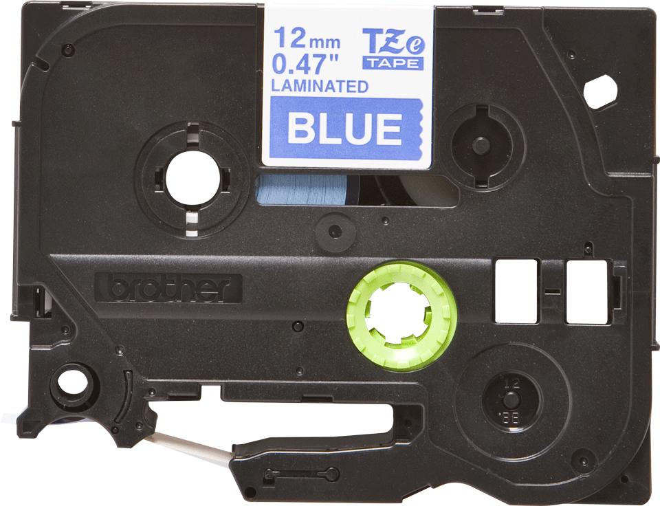 Cassette à ruban pour étiqueteuse TZe-535 Brother originale – Blanc sur bleu, 12mm de large 2