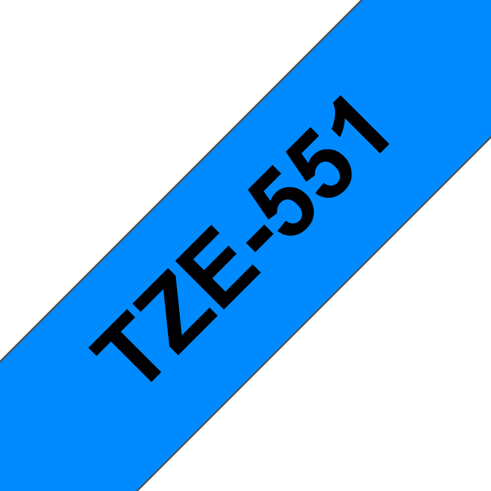Cassette à ruban pour étiqueteuse TZe-551 Brother originale – Noir sur bleu, 24mm de large