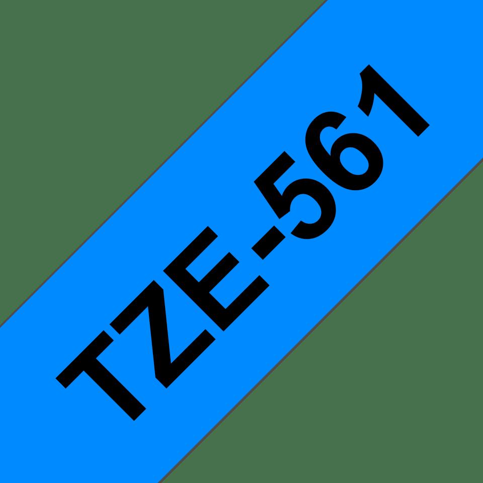 Cassette à ruban pour étiqueteuse TZe-561 Brother originale – Noir sur bleu, 36mm de large