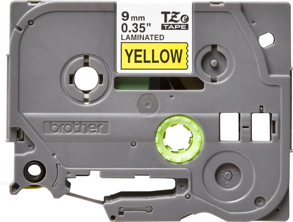 Cassette à ruban pour étiqueteuse TZe-621 Brother originale – Noir sur jaune, 9mm de large