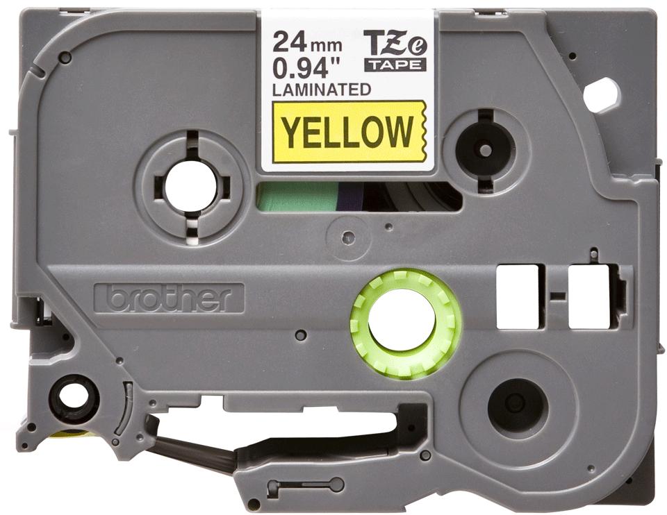 Cassette à ruban pour étiqueteuse TZe-651 Brother originale – Noir sur jaune, 24mm de large 2