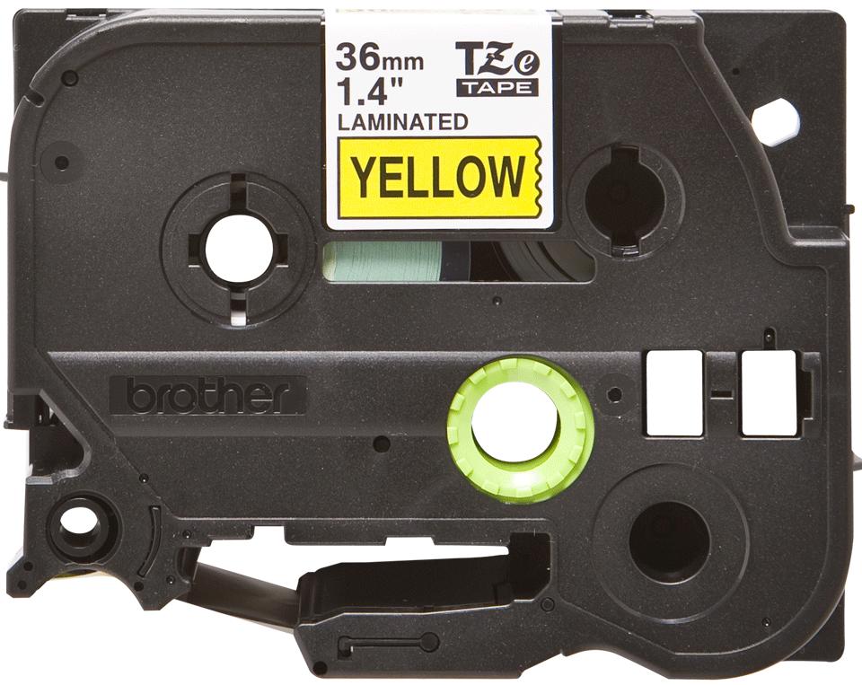 Cassette à ruban pour étiqueteuse TZe-661 Brother originale – Noir sur jaune, 36mm de large 0