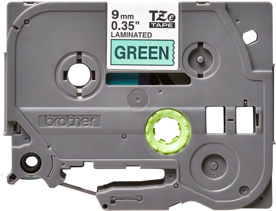 Cassette à ruban pour étiqueteuse TZe-721 Brother originale – Noir sur vert, 9mm de large 2