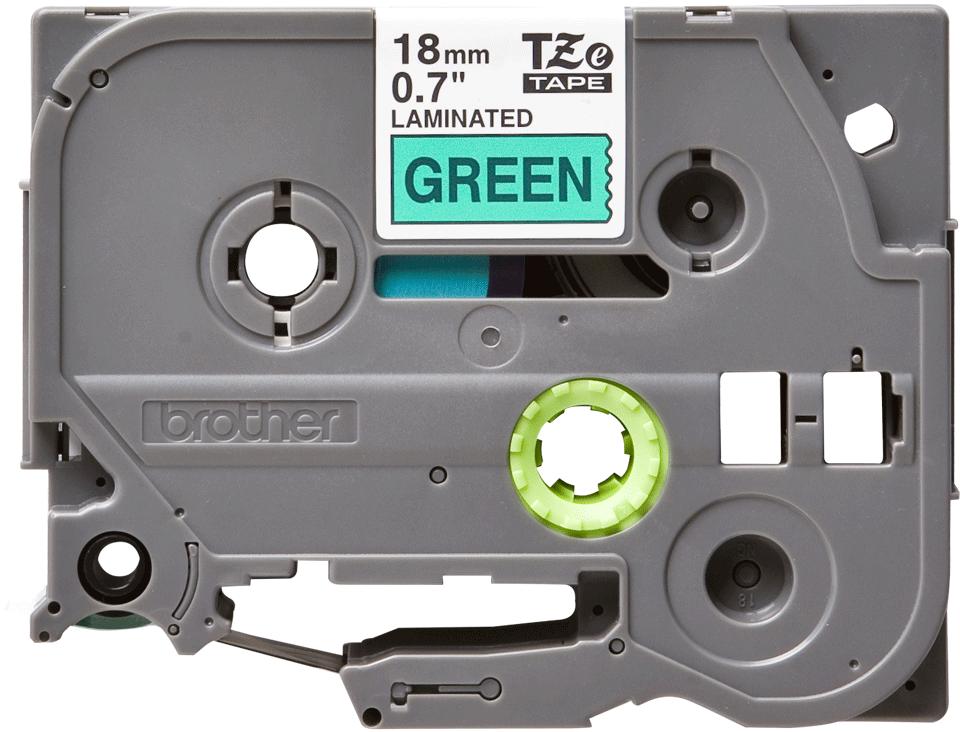 Cassette à ruban pour étiqueteuse TZe-741 Brother originale – Noir sur vert, 18mm de large 0