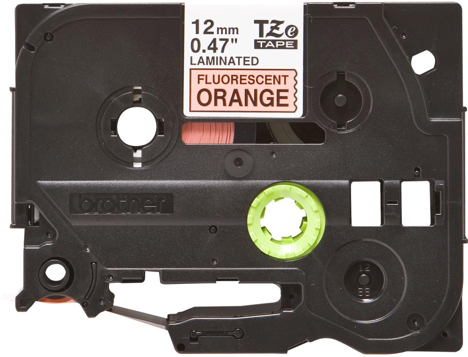 Cassette à ruban pour étiqueteuse TZe-B31 Brother originale – Orange fluorescent, 12mm de large 2