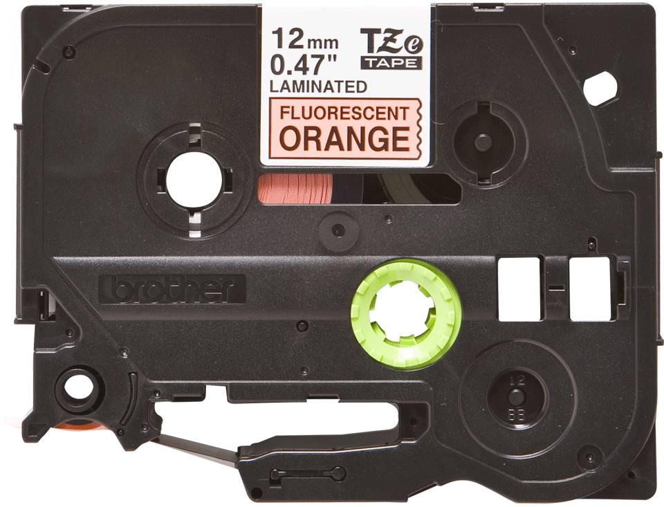 Cassette à ruban pour étiqueteuse TZe-B31 Brother originale – Orange fluorescent, 12 mm de large