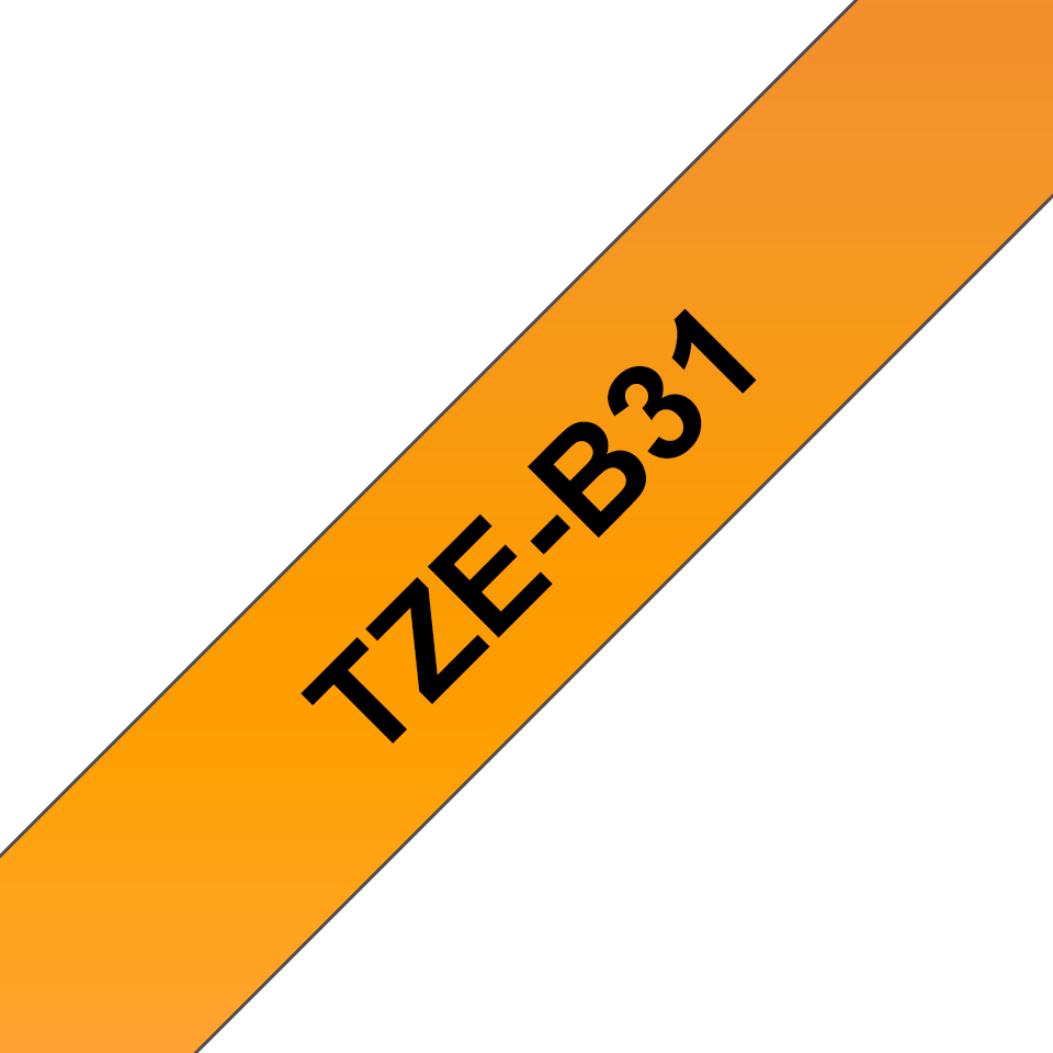 Cassette à ruban pour étiqueteuse TZe-B31 Brother originale – Orange fluorescent, 12 mm de large 3