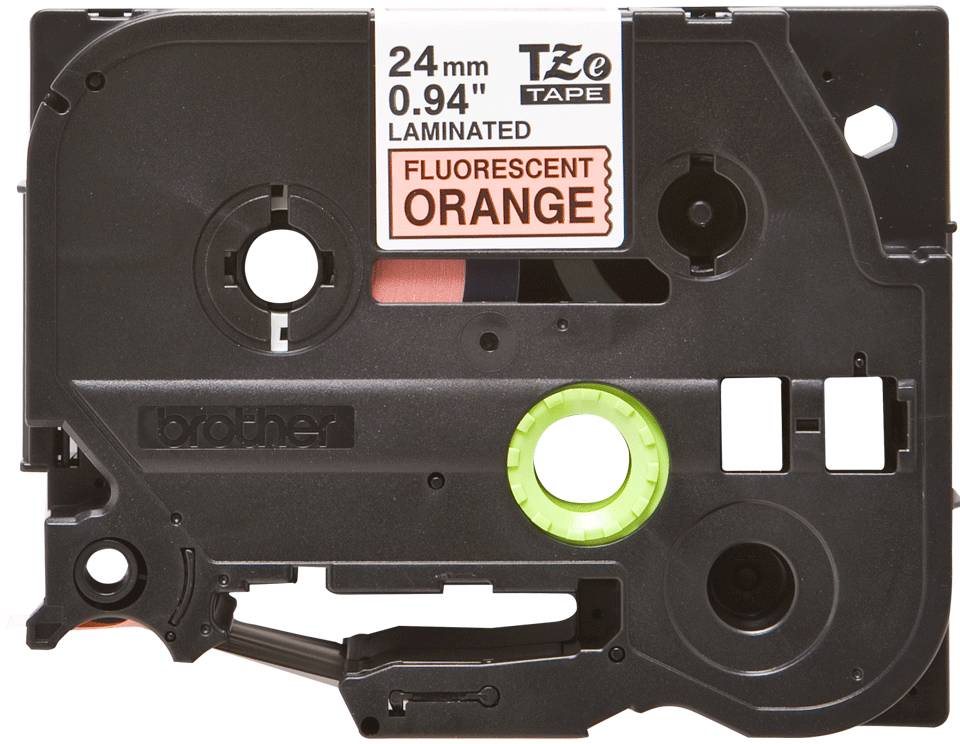 Cassette à ruban pour étiqueteuse TZe-B51 Brother originale – Orange fluorescent, 24 mm de large 2