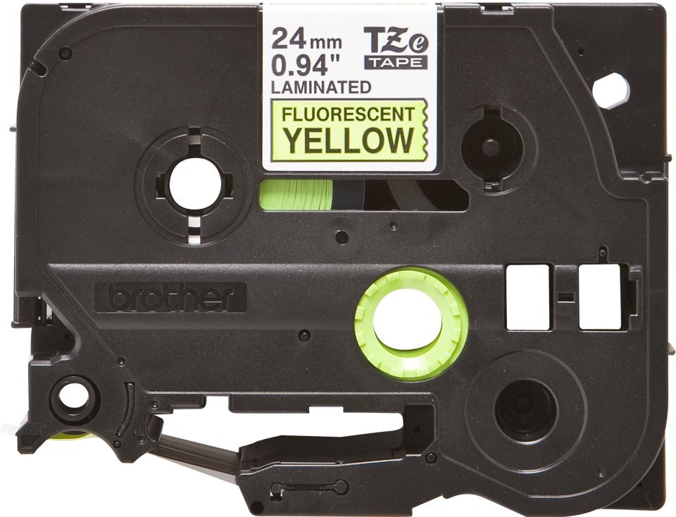 Cassette à ruban pour étiqueteuse TZe-C51 Brother originale – Jaune fluorescent, 24mm de large 2