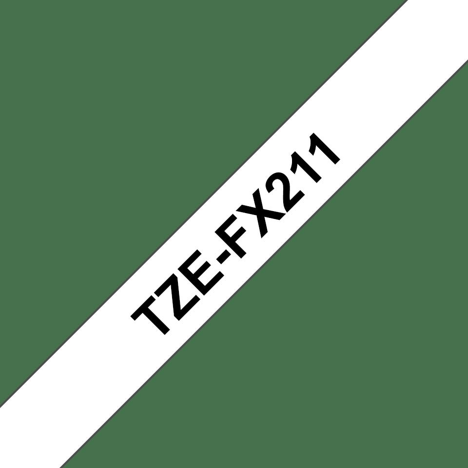 Cassette à ruban pour étiqueteuse TZe-FX211 Brother originale – Noir sur blanc, 6mm de large