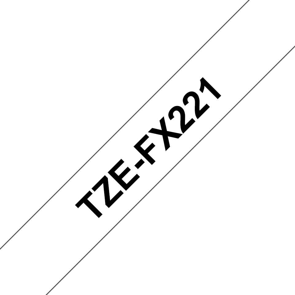 Cassette à ruban pour étiqueteuse TZe-FX221 Brother originale – Noir sur blanc, 9mm de large