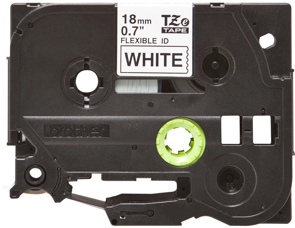 Cassette à ruban pour étiqueteuse TZe-FX241 Brother originale – Noir sur blanc, 18mm de large 0