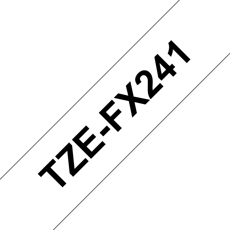 Cassette à ruban pour étiqueteuse TZe-FX241 Brother originale – Noir sur blanc, 18mm de large