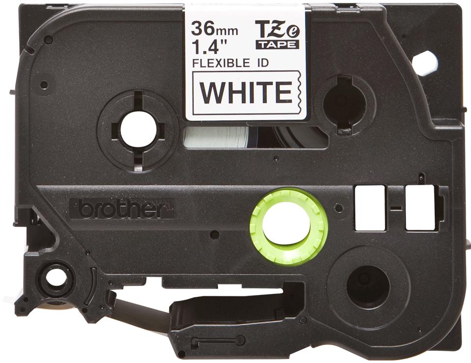 Cassette à ruban pour étiqueteuse TZe-FX261 Brother originale – Noir sur blanc, 36mm de large 0