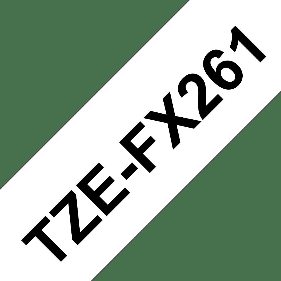 Cassette à ruban pour étiqueteuse TZe-FX261 Brother originale – Noir sur blanc, 36mm de large