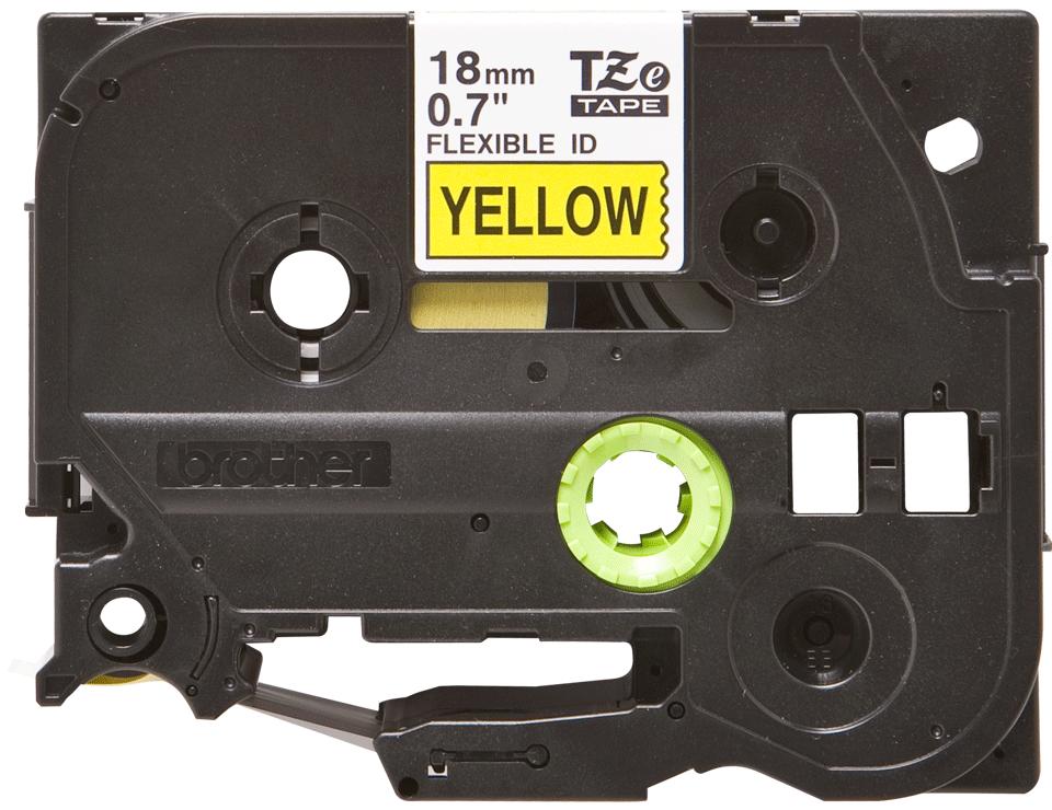 Cassette à ruban pour étiqueteuse TZe-FX641 Brother originale – Noir sur jaune, 18mm de large 2