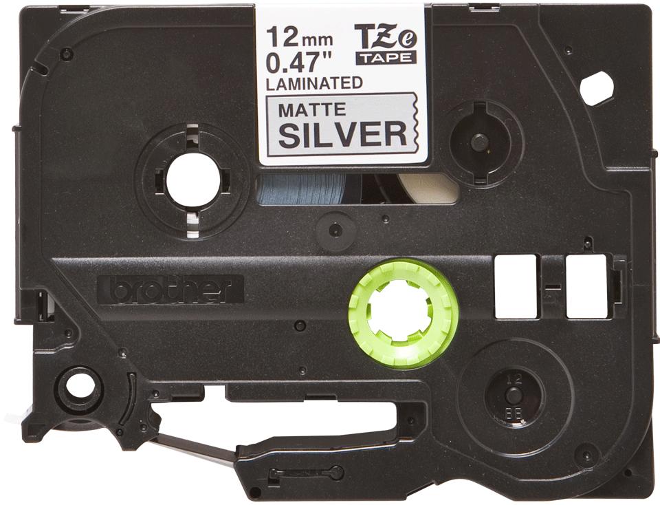 Cassette à ruban pour étiqueteuse TZe-M931 Brother originale – Noir sur argent mat, 12mm de large