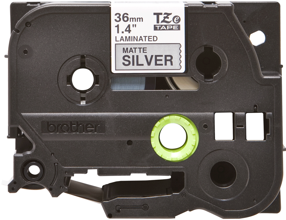 Cassette à ruban pour étiqueteuse TZe-M961 Brother originale – Noir sur argent mat, 36mm de large