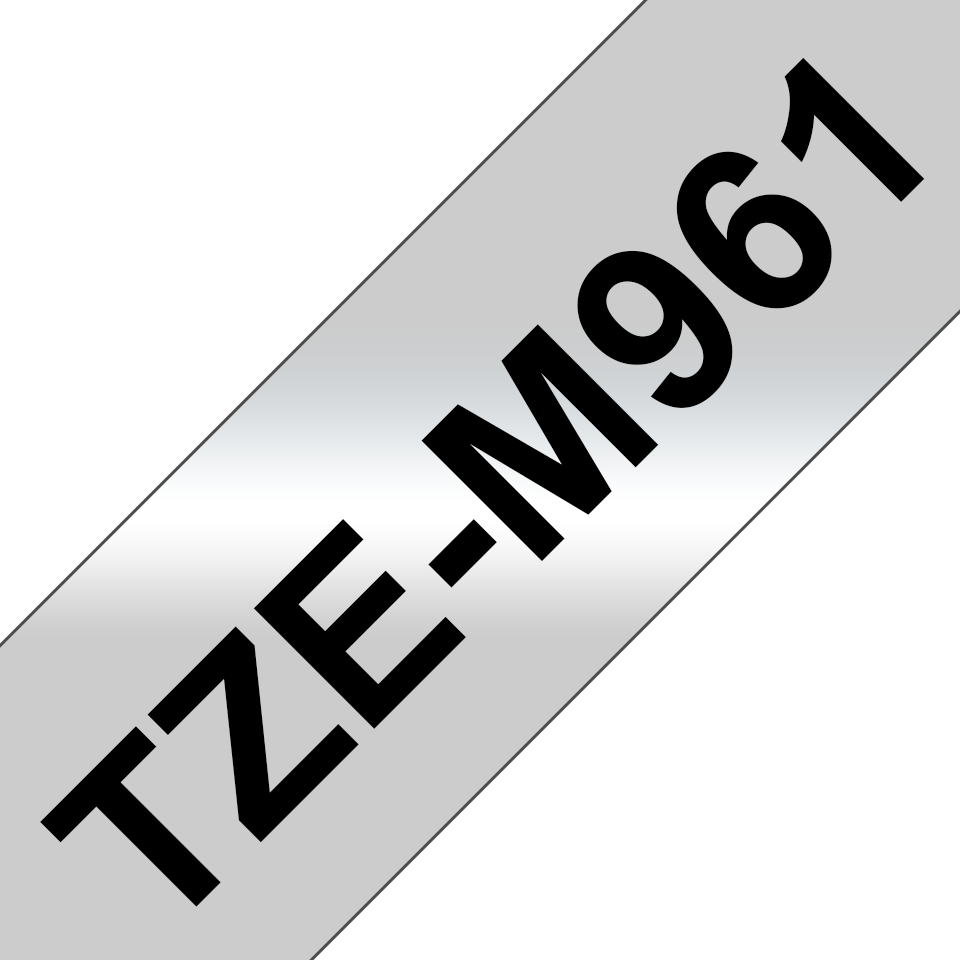 Cassette à ruban pour étiqueteuse TZe-M961 Brother originale – Noir sur argent mat, 36mm de large 2