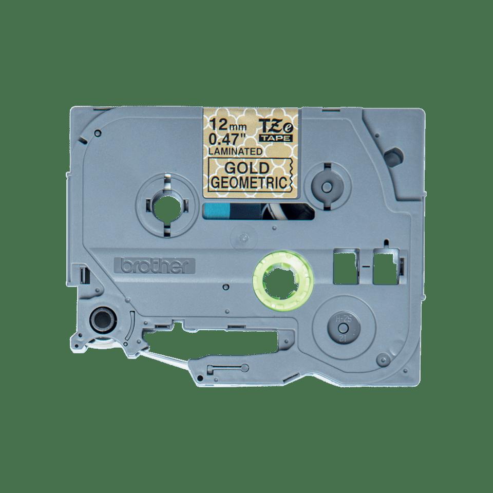 Cassette à ruban pour étiqueteuse TZe-MPGG31 Brother originale – Noir sur motifs or, 12mm de large