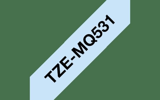 Cassette à ruban pour étiqueteuse TZe-MQ531 Brother originale – Noir sur bleu pastel, 12mm de large 2