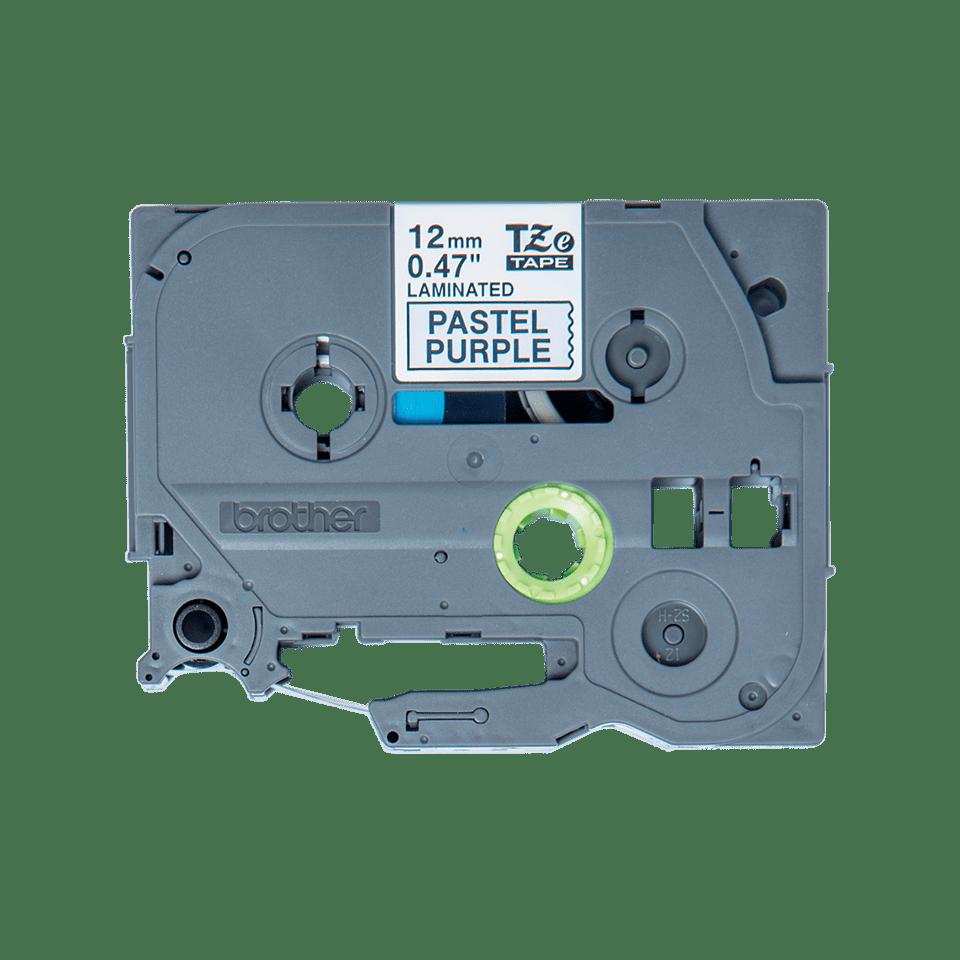 Cassette à ruban pour étiqueteuse TZe-MQF31 Brother originale – Noir sur violet pastel, 12mm de large