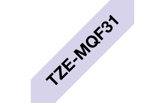 Cassette à ruban pour étiqueteuse TZe-MQF31 Brother originale – Noir sur violet pastel, 12mm de large 3