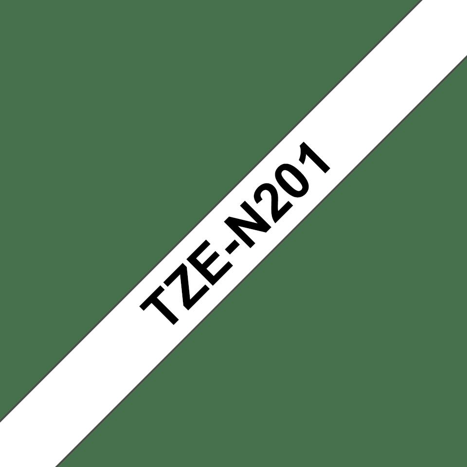 Cassette à ruban pour étiqueteuse TZe-N201 Brother originale – Noir sur blanc, 3,5mm de large 3