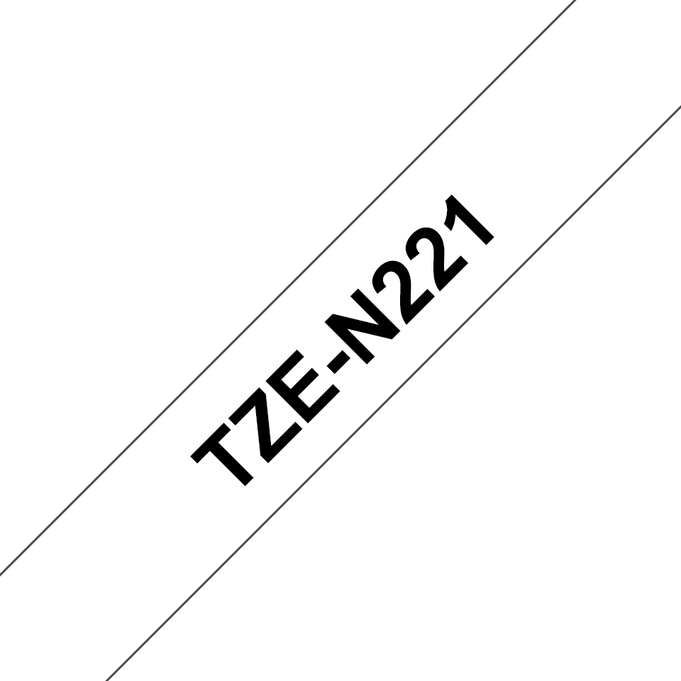 Cassette à ruban pour étiqueteuse TZe-N221 Brother originale – Noir sur blanc, 9mm de large 3