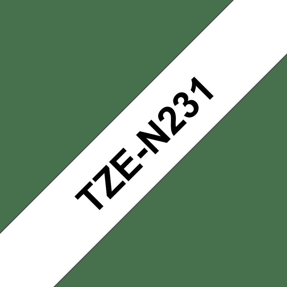 Cassette à ruban pour étiqueteuse TZe-N231 Brother originale – Noir sur blanc, 12mm de large 3