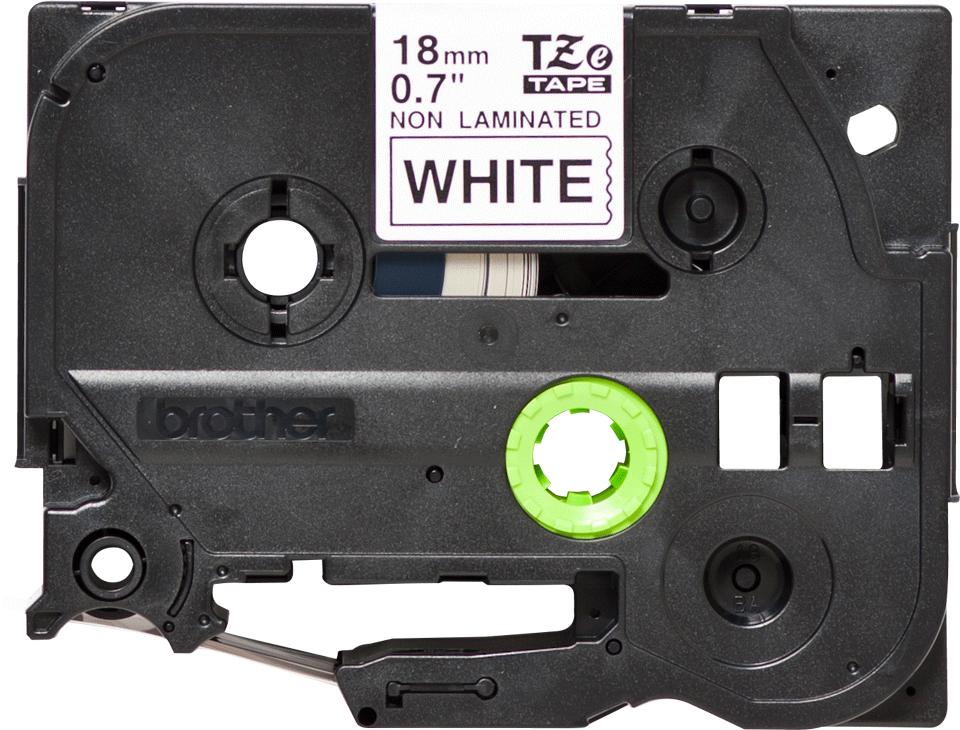 Cassette à ruban pour étiqueteuse TZe-N241 Brother originale – Noir sur blanc, 18mm de large