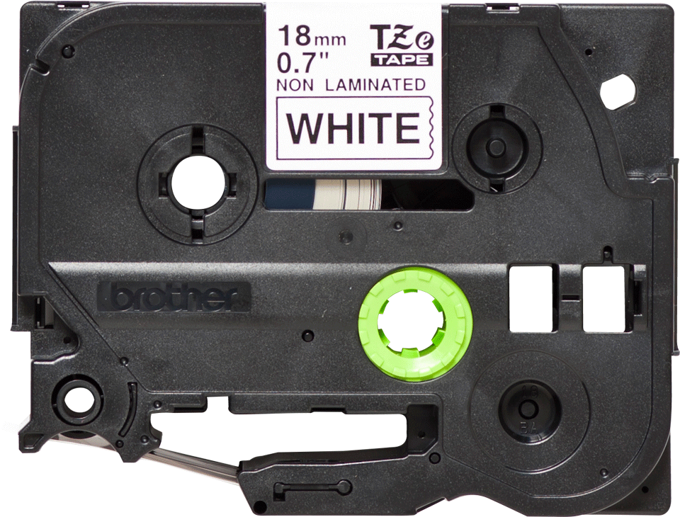 Cassette à ruban pour étiqueteuse TZe-N241 Brother originale – Noir sur blanc, 18mm de large 0