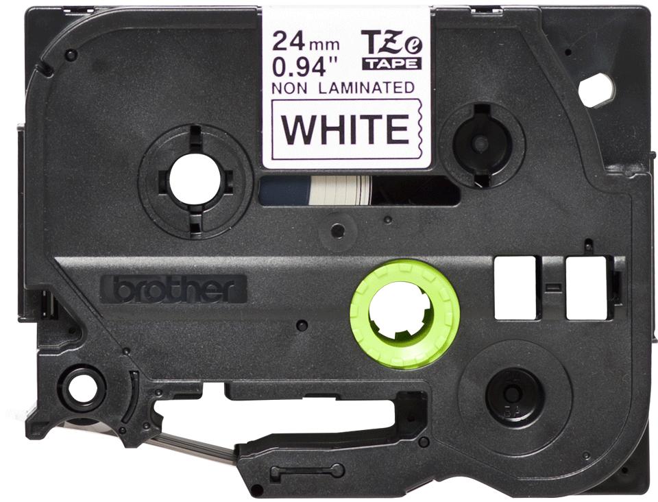 Cassette à ruban pour étiqueteuse TZe-N251 Brother originale – Noir sur blanc, 24mm de large