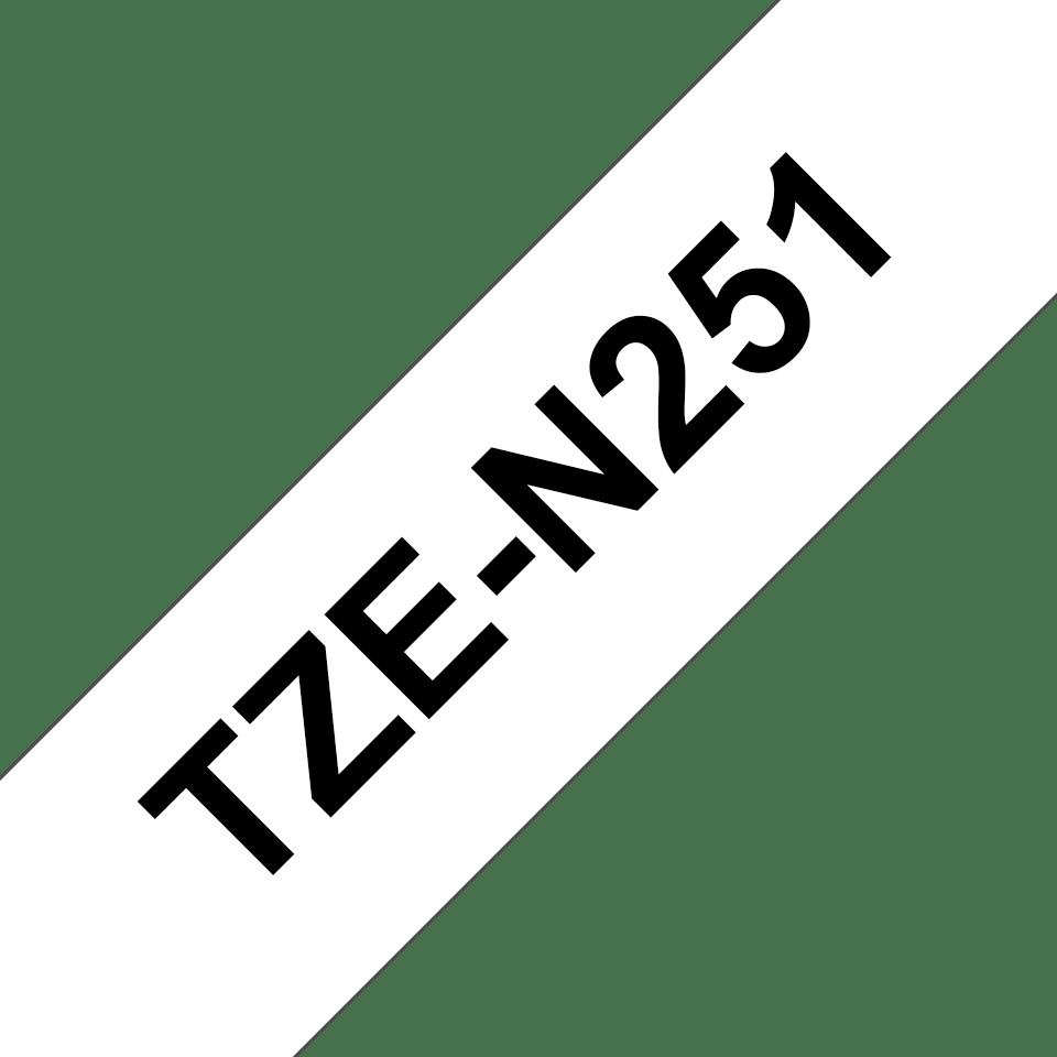 Cassette à ruban pour étiqueteuse TZe-N251 Brother originale – Noir sur blanc, 24mm de large 3