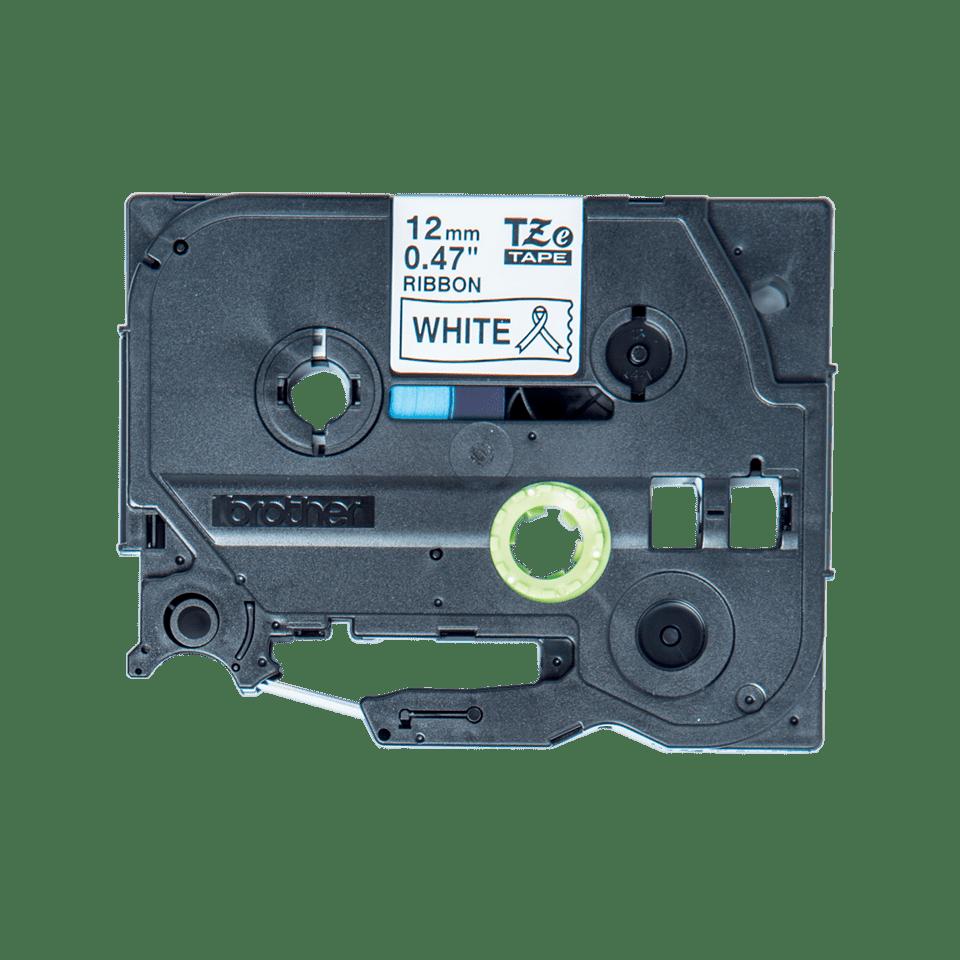 Cassette à ruban tissu TZe-R231 Brother originale – Noir sur blanc, 12mm de large