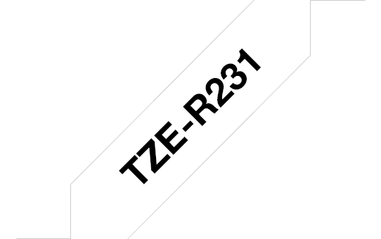 Cassette à ruban tissu TZe-R231 Brother originale – Noir sur blanc, 12 mm de large 3
