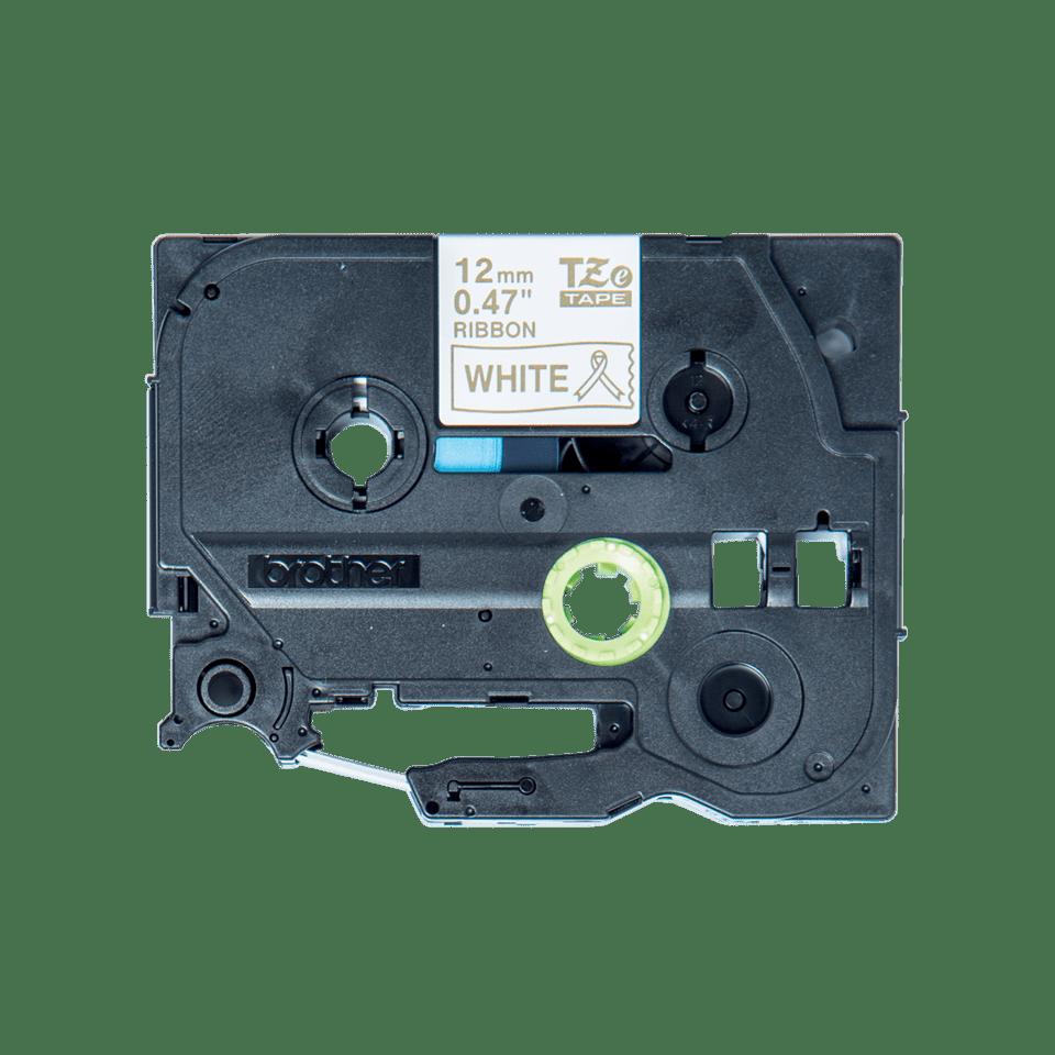 Cassette à ruban tissu TZe-R234 Brother originale – Or sur blanc, 12mm de large 0