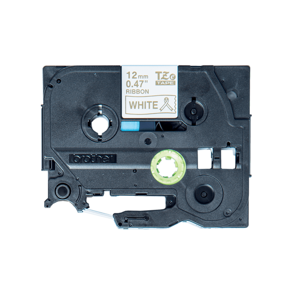 Cassette à ruban tissu TZe-R234 Brother originale – Or sur blanc, 12mm de large