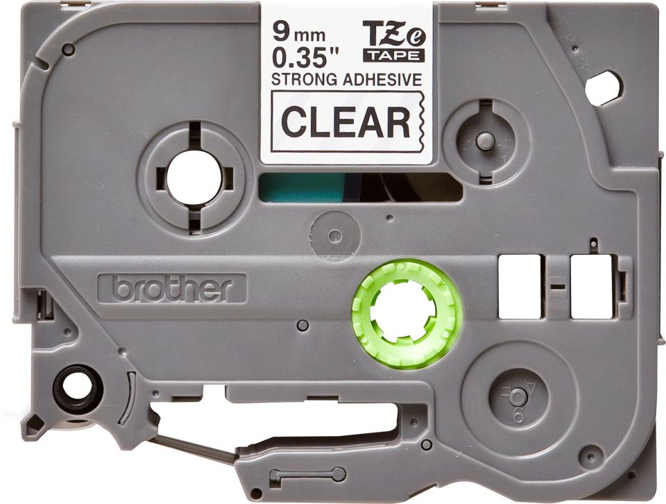 Cassette à ruban pour étiqueteuse TZe-S121 Brother originale – Noir sur transparent, 9mm de large