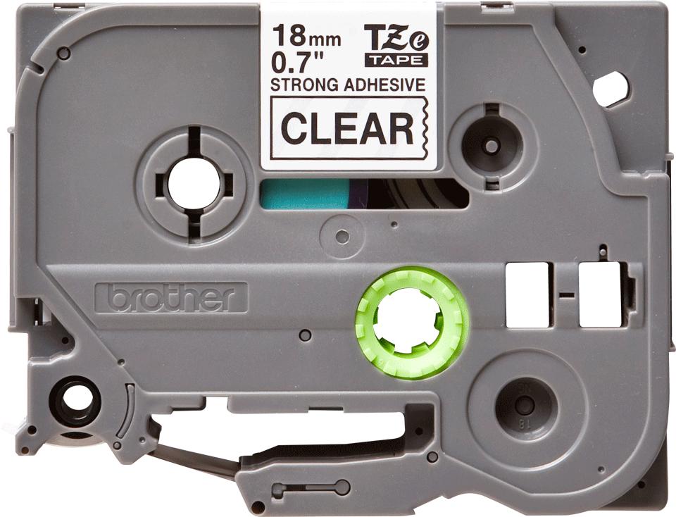 Cassette à ruban pour étiqueteuse TZe-S141 Brother originale – Noir sur transparent, 18mm de large