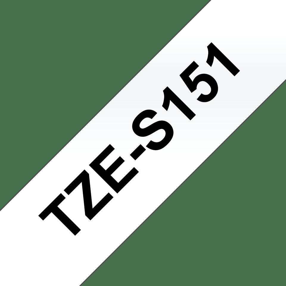 Cassette à ruban pour étiqueteuse TZe-S151 Brother originale – Noir sur transparent, 24 mm de large 3