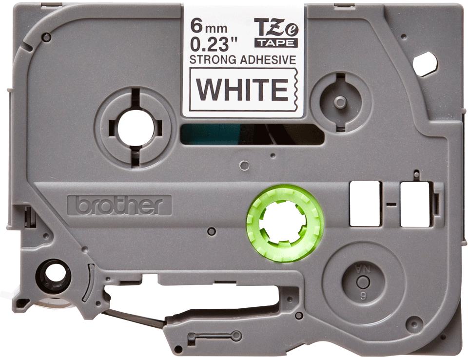 Cassette à ruban pour étiqueteuse TZe-S211 Brother originale – Noir sur blanc, 6mm de large