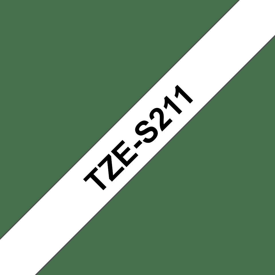 Cassette à ruban pour étiqueteuse TZe-S211 Brother originale – Noir sur blanc, 6mm de large 3