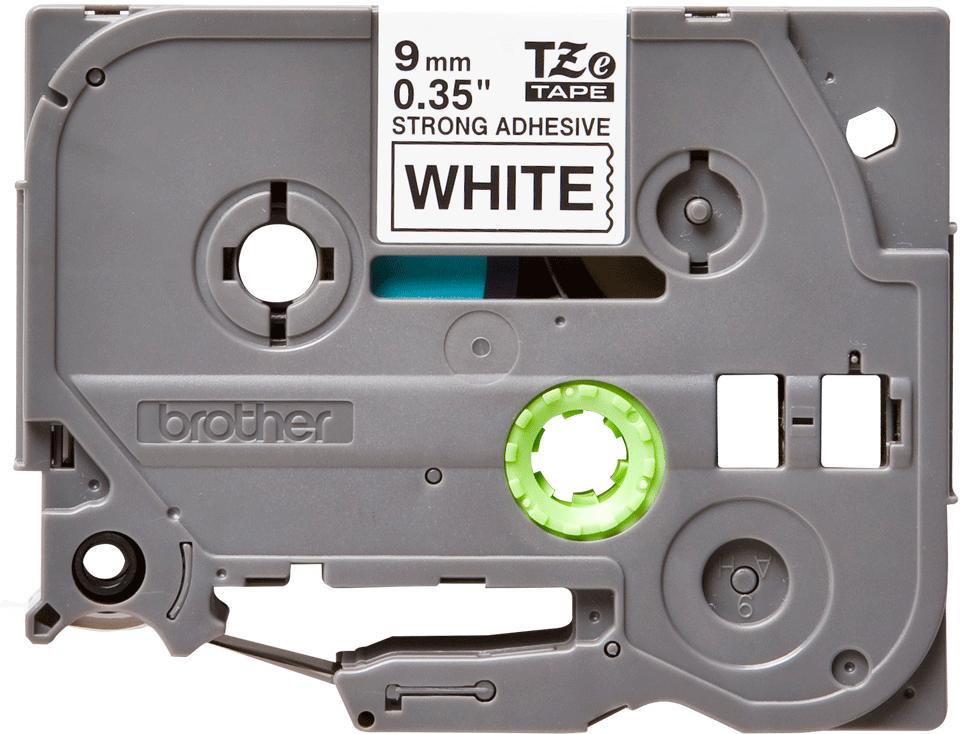 Cassette à ruban pour étiqueteuse TZe-S221 Brother originale – Noir sur blanc, 9mm de large