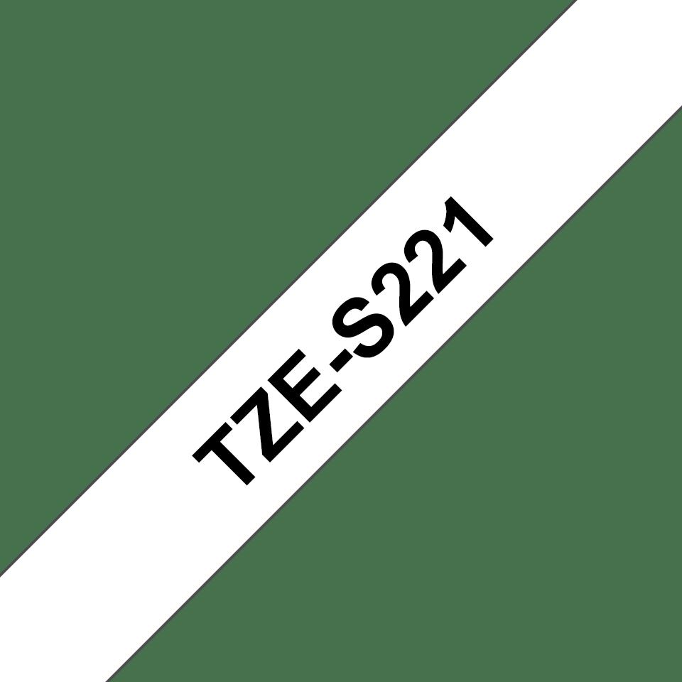 Cassette à ruban pour étiqueteuse TZe-S221 Brother originale – Noir sur blanc, 9mm de large 3