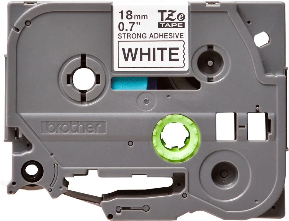 Cassette à ruban pour étiqueteuse TZe-S241 Brother originale – Noir sur blanc, 18mm de large 0