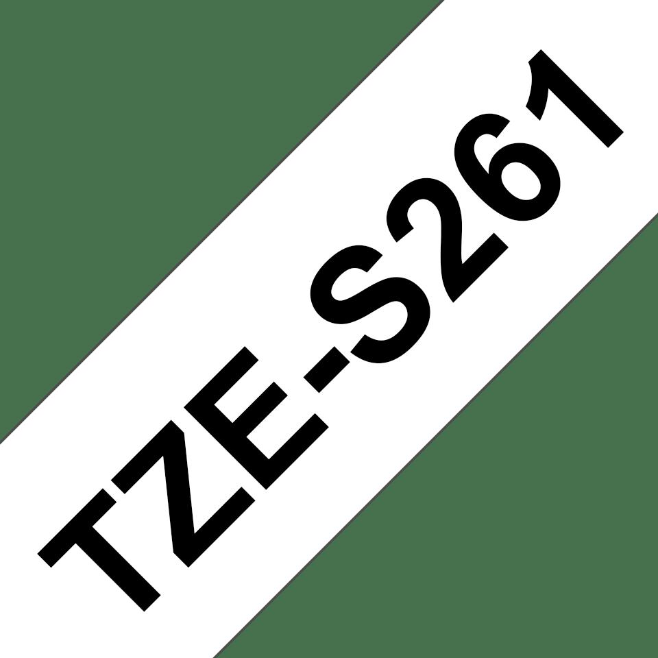 Cassette à ruban pour étiqueteuse TZe-S261 Brother originale – Noir sur blanc, 36mm de large 3