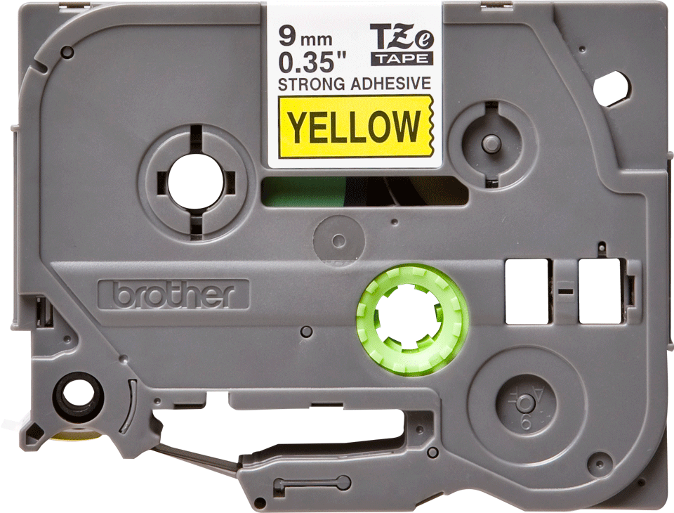 Cassette à ruban pour étiqueteuse TZe-S621 Brother originale – Noir sur jaune, 9mm de large