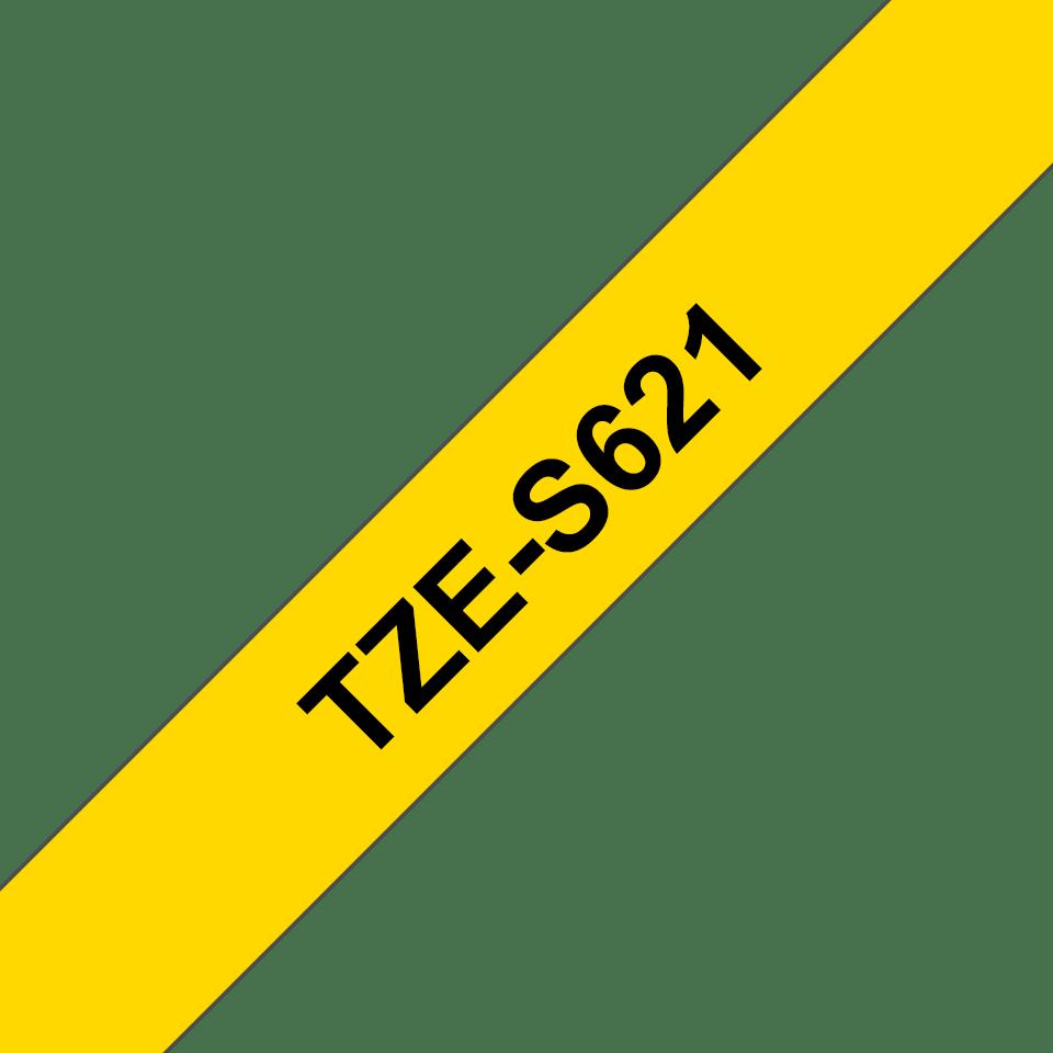 Cassette à ruban pour étiqueteuse TZe-S621 Brother originale – Noir sur jaune, 9mm de large 2