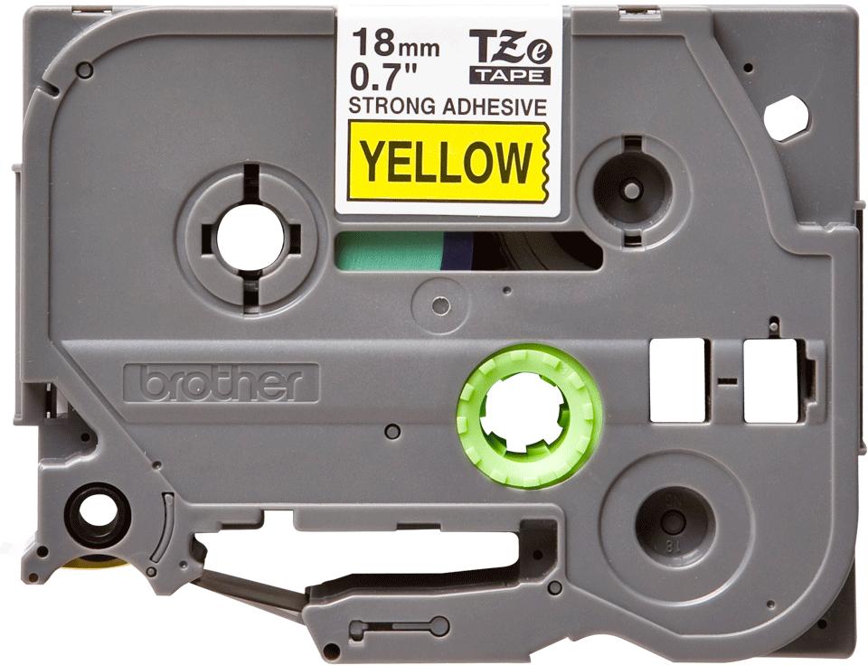 Cassette à ruban pour étiqueteuse TZe-S641 Brother originale – Noir sur jaune, 18mm de large